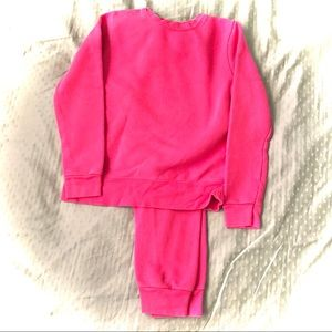 Athletic Works Girls 2 Piece Hot Pink Track Suit